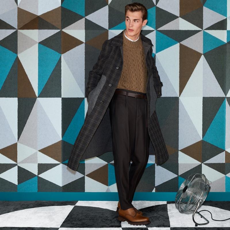 Kit Butler poses in Salvatore Ferragamo's fall-winter 2017 campaign