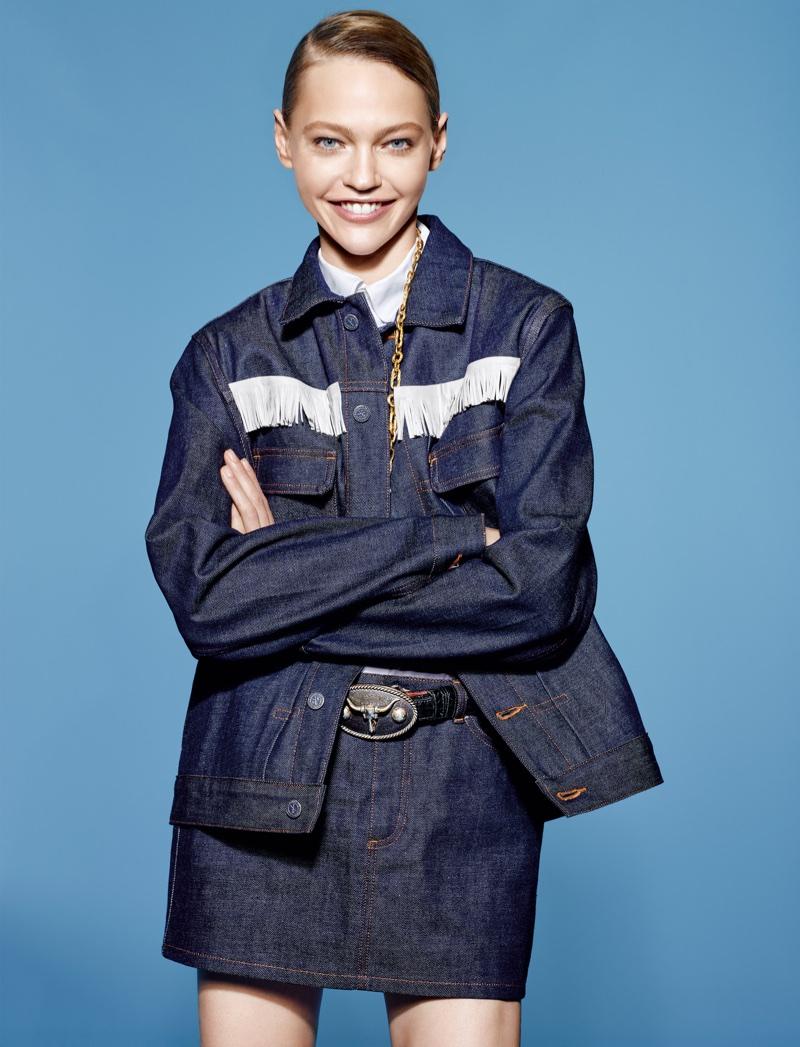 Sasha Pivovarova Models New Season Denim in Vogue China