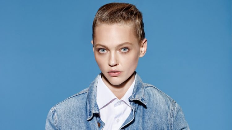 Sasha Pivovarova Models New Season Denim in Vogue China