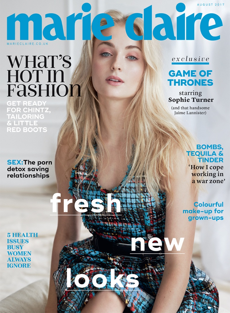 Sophie Turner on Marie Claire UK August 2017 Cover
