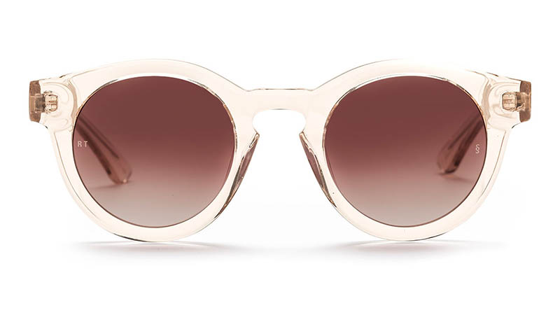 Sunday Somewhere x Rebecca Taylor Isabel Sunglasses in Transparent Champagne $270