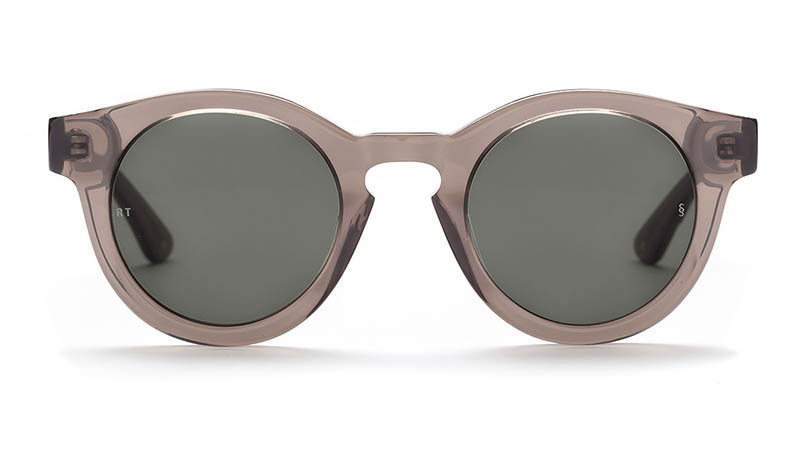 Sunday Somewhere x Rebecca Taylor Isabel Sunglasses in Transparent Warm Grey $270