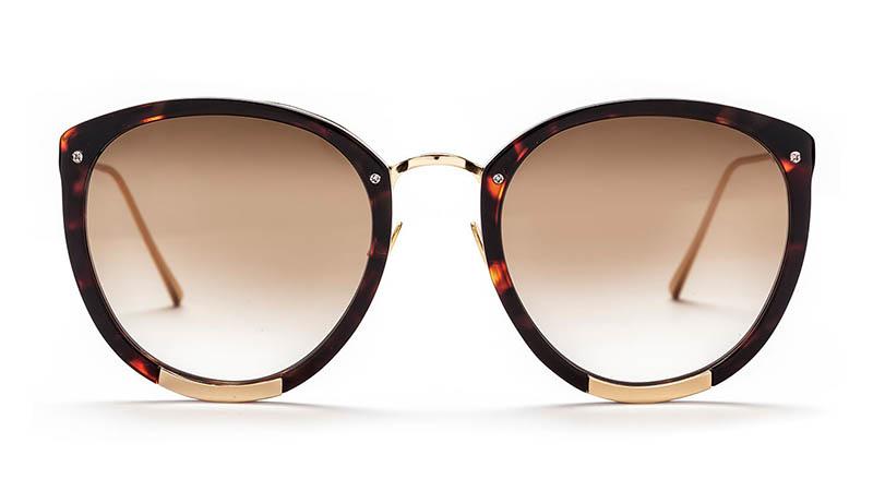 Sunday Somewhere x Rebecca Taylor Zoe Sunglasses in Black $320