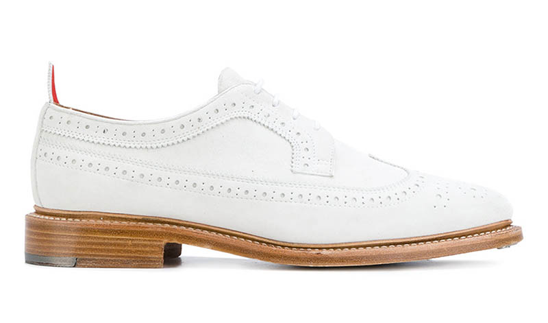 Thom Browne Tennis Collection Classic Long Wingtip Brogue $950