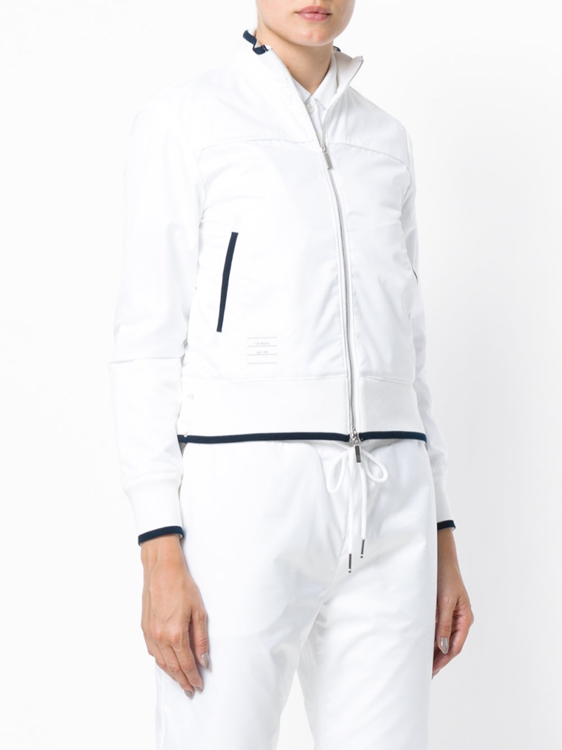 Thom Browne Tennis Collection Ripstop Tip Track Jacket $690