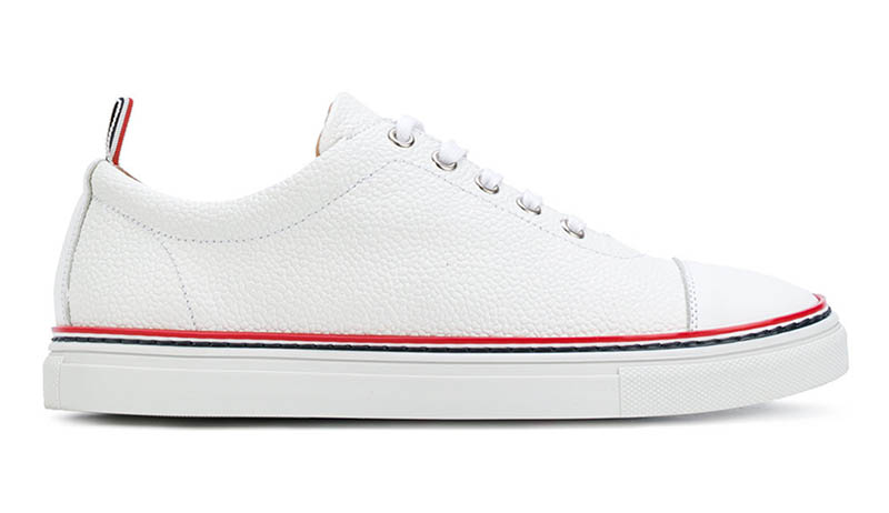 Thom Browne Tennis Collection Straight Toe Cap Sneaker $590