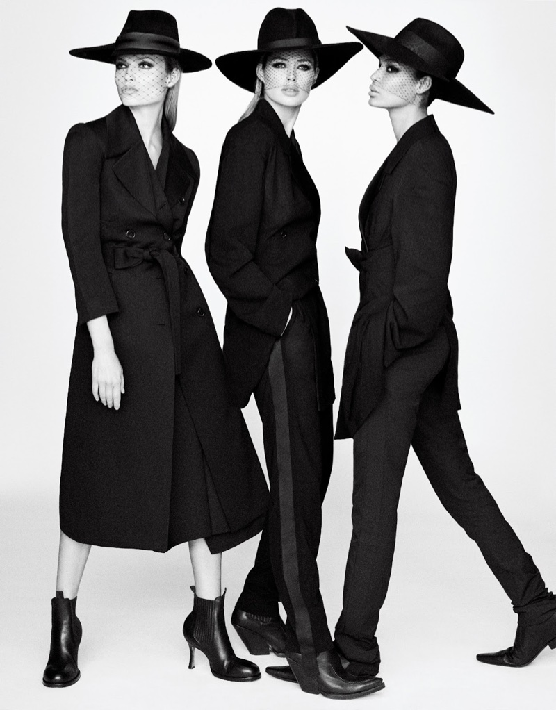 Natasha Poly, Doutzen Kroes & Lara Stone Model the Fall Collections in Vogue Japan