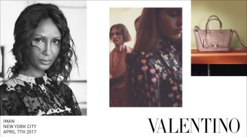 Iman, Freja Beha Erichsen Front Valentino's Fall 2017 Campaign