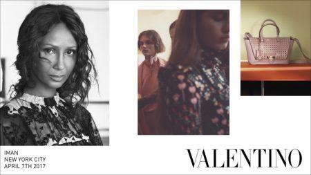 Iman, Freja Beha Erichsen Front Valentino's Fall 2017 Campaign