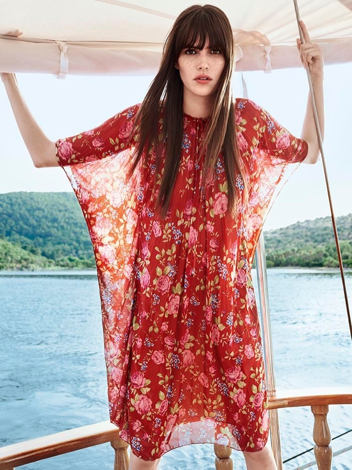 Vanessa Moody Poses in Dreamy Summer Dresses for Vogue Turkey