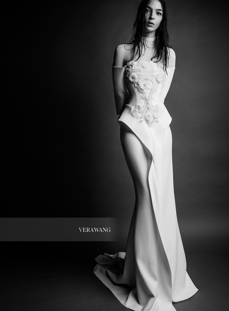 Vera Wang Bridal features the Edythe gown in Spring 2018 campaign