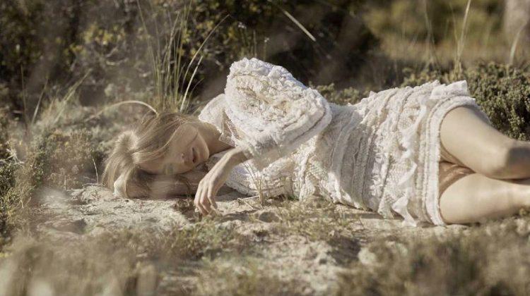 Veranika Antsipava Looks Ethereal in Outdoor Styles for ELLE Russia