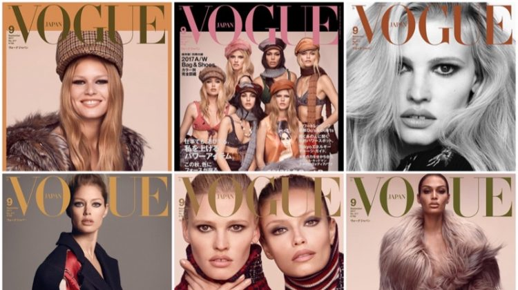 Doutzen Kroes, Lara Stone, Joan Smalls & More Grace Vogue Japan's September 2017 Cover (Photos)