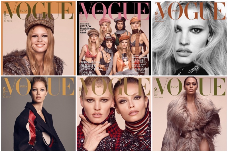 Doutzen Kroes, Lara Stone, Joan Smalls & More Grace Vogue Japan's September 2017 Cover (Photos)