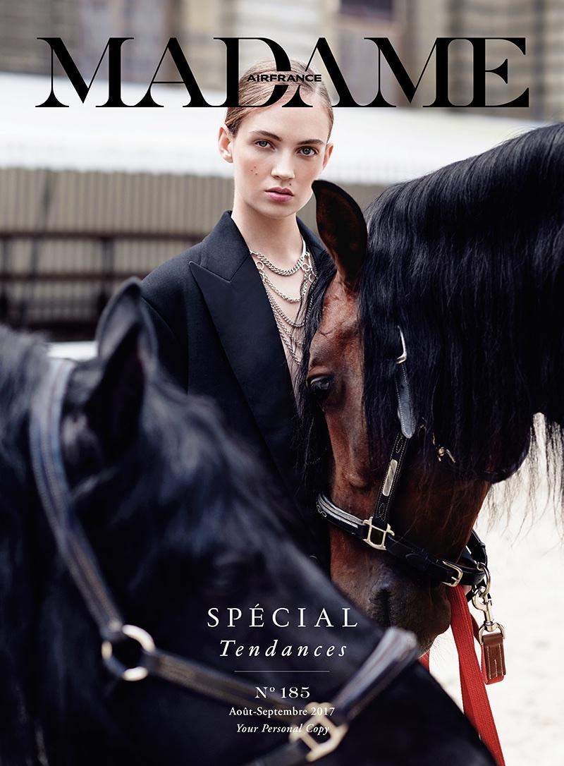 Adrienne Jüliger Wears Equestrian Style in Air France Madame