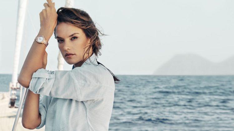 OMEGA taps model Alessandra Ambrosio for Aqua Terra campaign