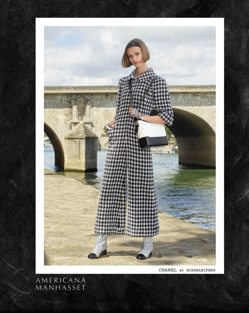 Chanel tweed takes the spotlight in Americana Manhasset's fall-winter 2017 campaign