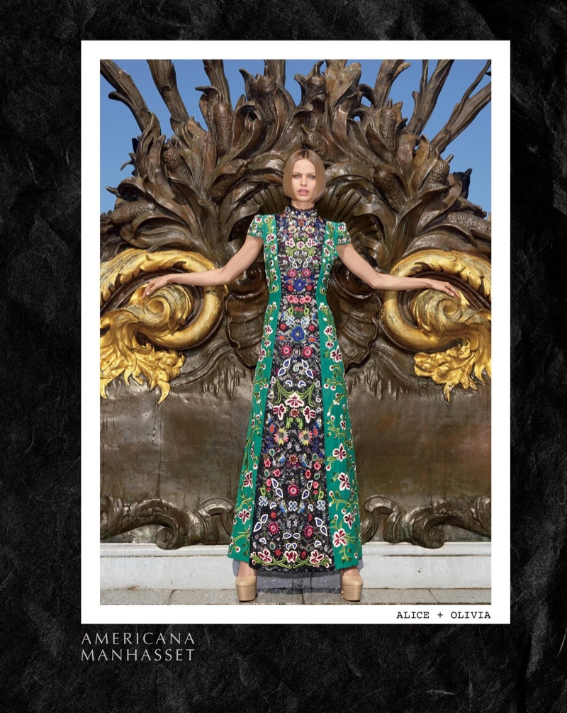 Americana Manhasset features Alice + Olivia dress in fall-winter 2017 campaign