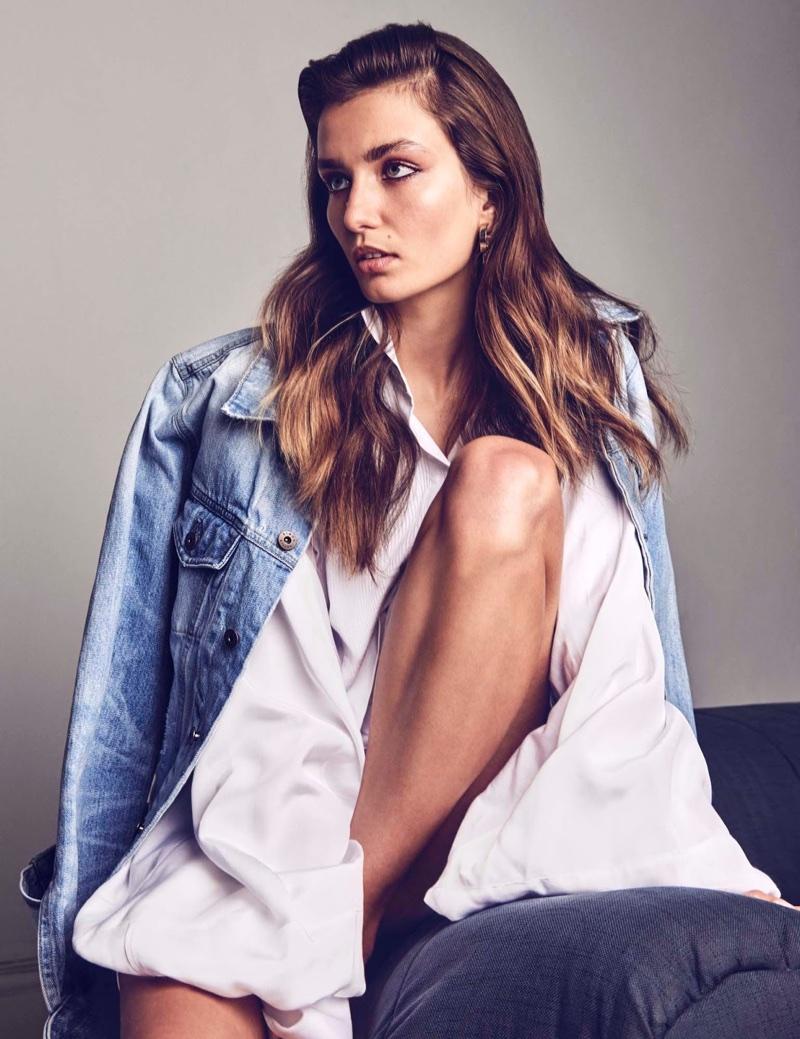 Andreea Diaconu Wears New Season Denim in Vogue Mexico