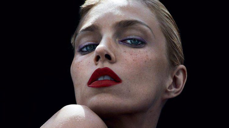 Anja Rubik Charms in YSL Beauty Looks for Vogue Paris