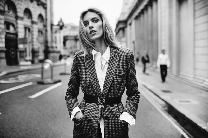 Anja Rubik Suits Up in Business Style for The Edit
