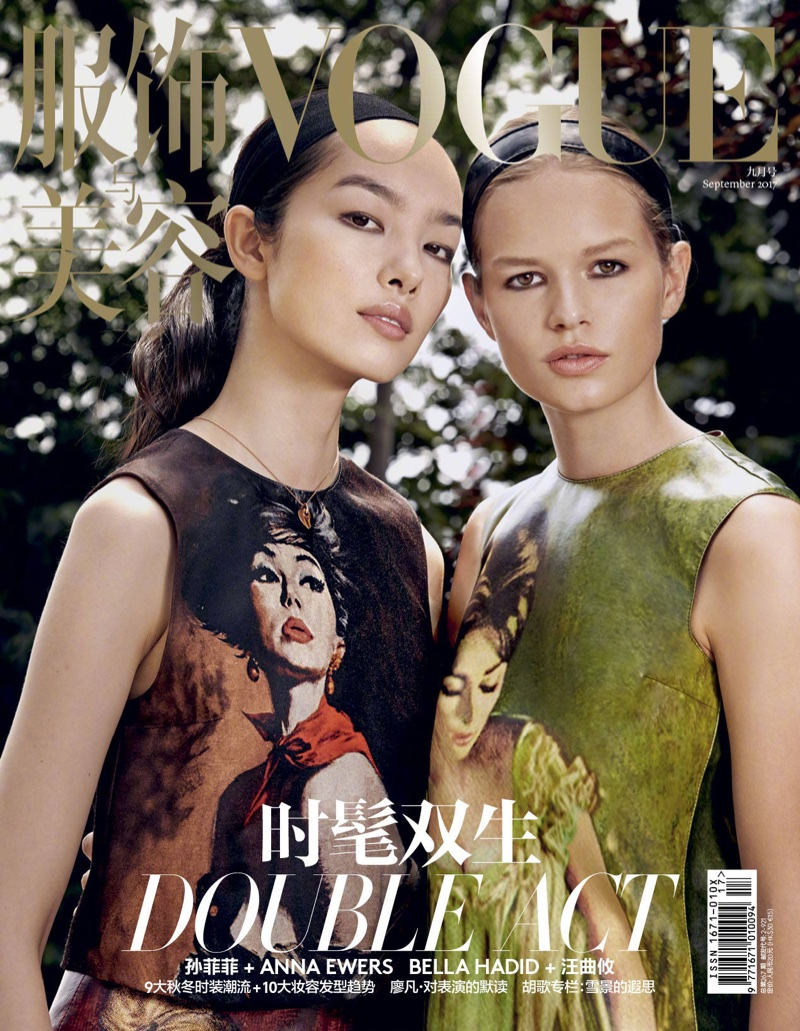 Anna Ewers & Fei Fei Sun Are the Perfect 'Double Act' in Vogue China