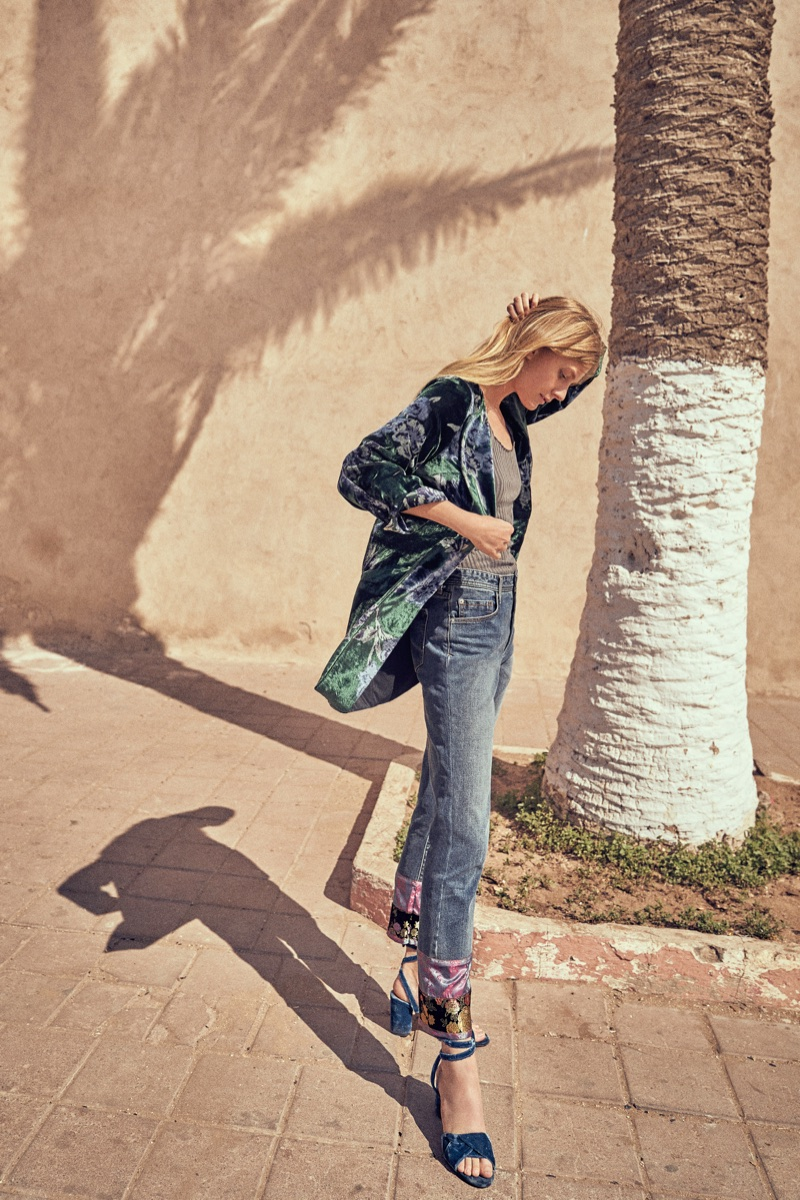 Anthropologie features denim in its September 2017 catalog