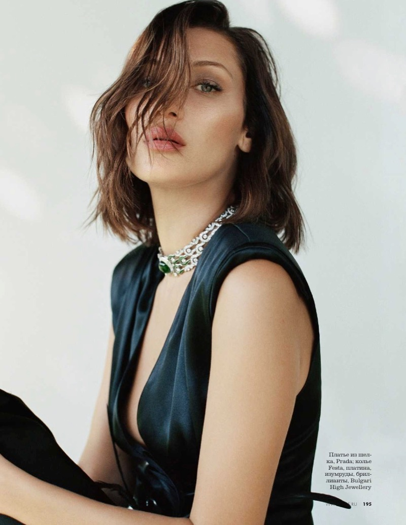 Bella Hadid Embraces Leather Fashions In Elle Russia