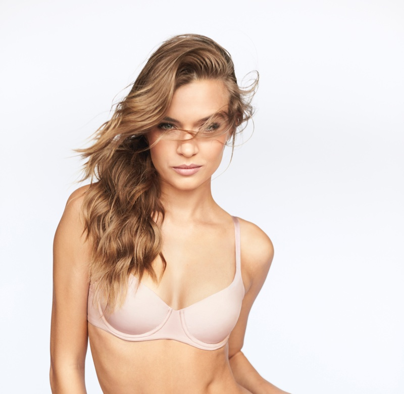 Josephine Skriver wears Body by Victoria, Victoria's Secret Unlined Demi Bra