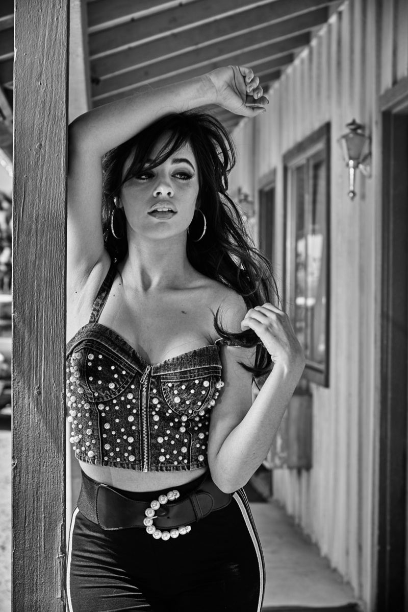 Singer Camila Cabello wears studded bustier for Guess Jeans' fall-winter 2017 campaign