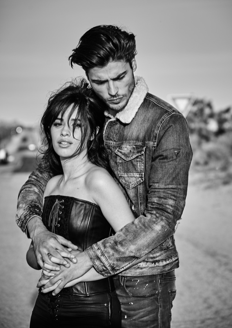 Photographed in black and white, Camila Cabello fronts Guess Jeans fall 2017 campaign