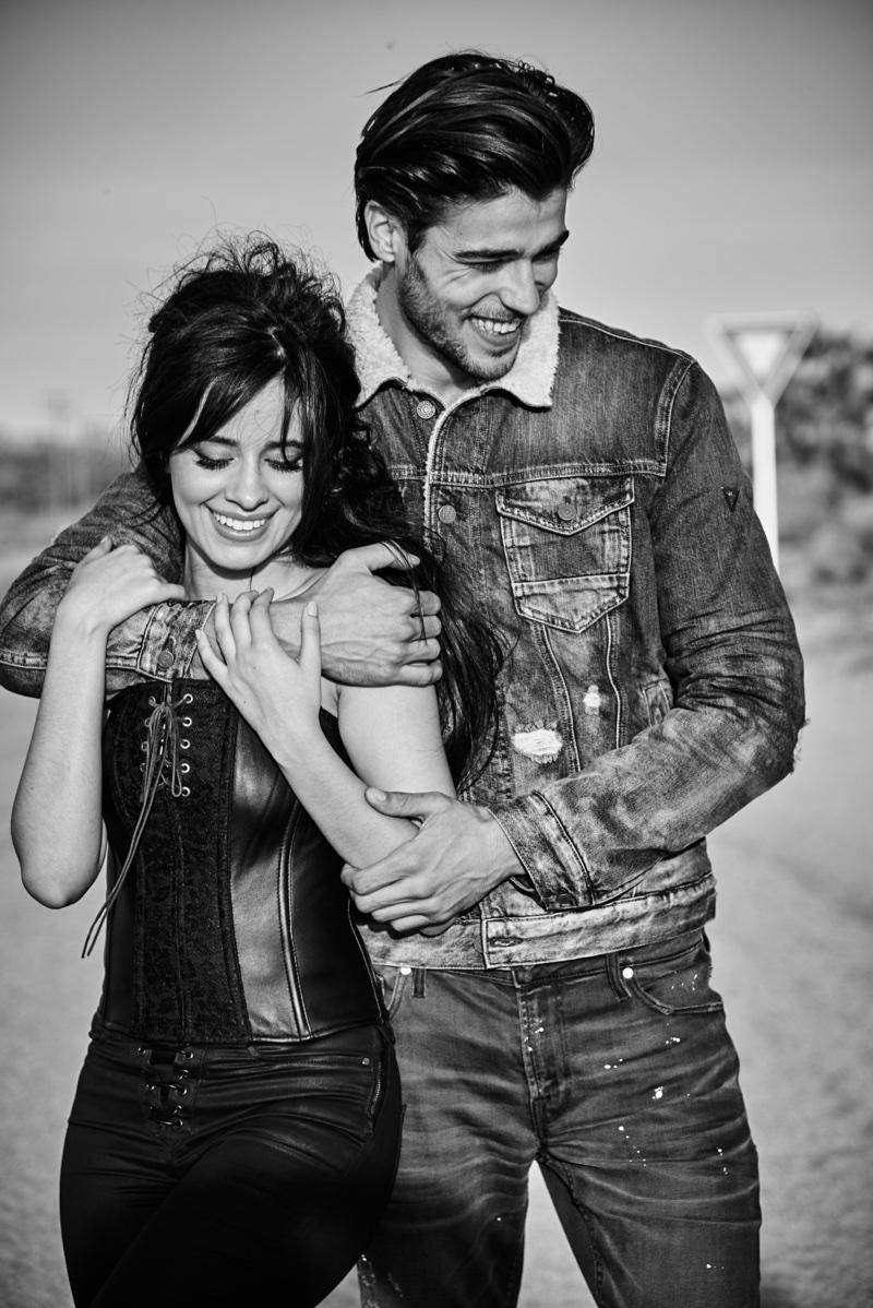 Camila Cabello poses with Alex Dellisola in Guess Jeans' fall-winter 2017 campaign