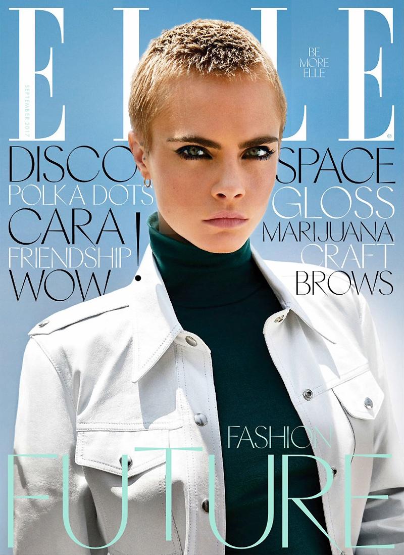 Cara Delevingne Wears Cool Girl Denim in ELLE UK