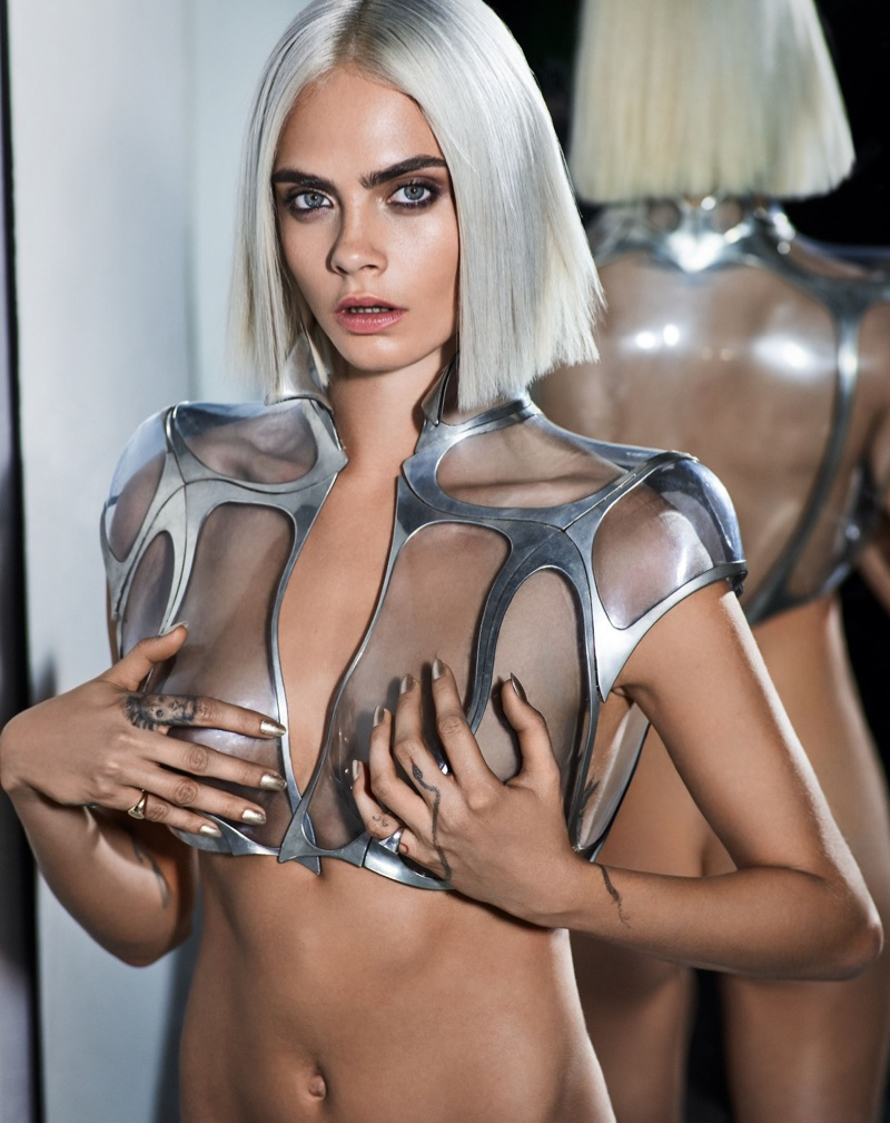 Cara Delevingne Poses in Sexy Futuristic Looks for GQ UK