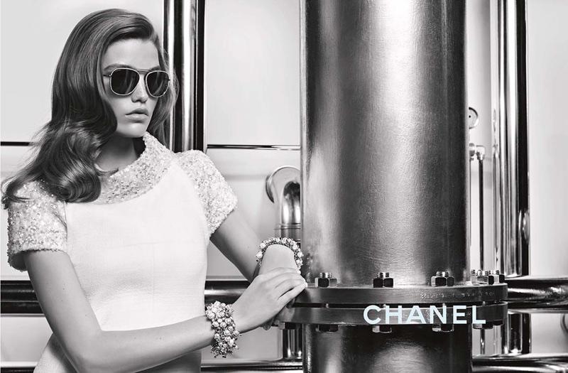 Luna Bijl stars in Chanel Eyewear's fall-winter 2017 campaign