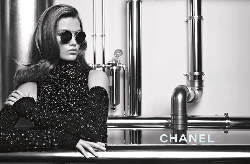 Luna Bijl Looks Chic in Chanel's Fall 2017 Eyewear Campaign