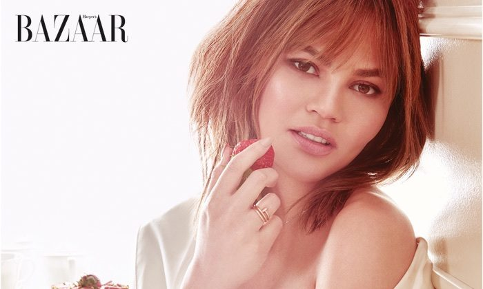Chrissy Teigen Looks Pretty Sweet in Harper's Bazaar Singapore Cover Story