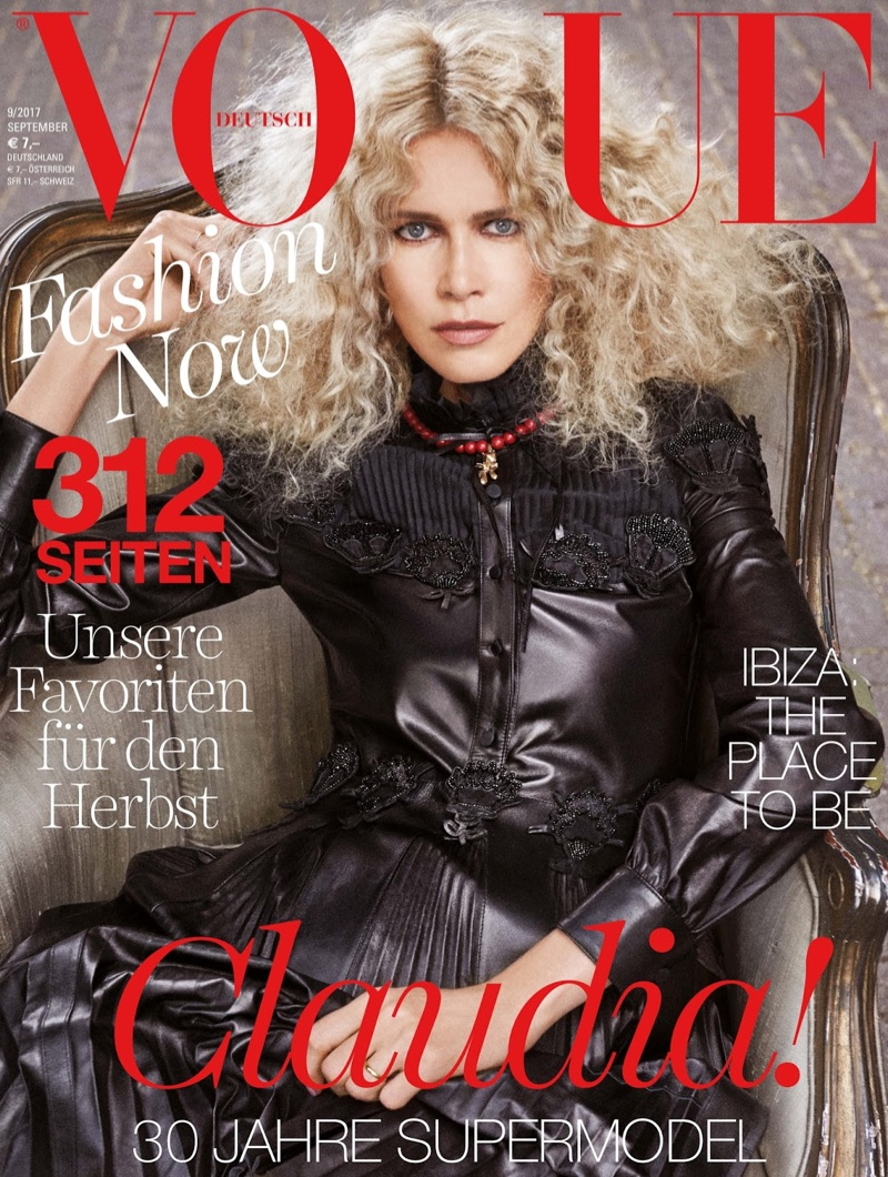 Claudia Schiffer Exudes Pure Elegance in Vogue Germany