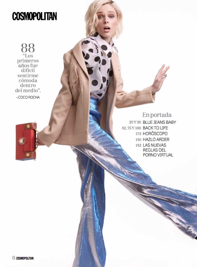 Coco Rocha Shows Off Her Moves in Cosmopolitan Mexico