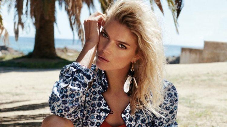 Cristina Tosio Models Swimsuit Season Looks in Glamour Italy