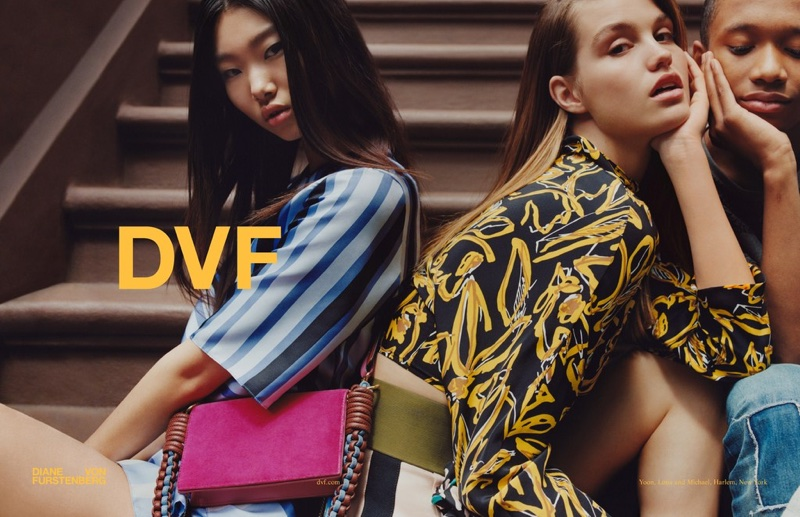 Yoon Young Bae and Luna Bijl star in Diane von Furstenberg's fall-winter 2017 campaign