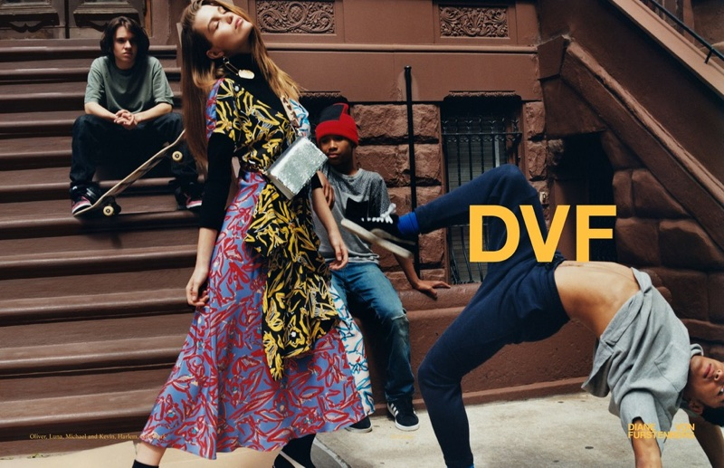 New York streets take the spotlight in Diane von Furstenberg's fall-winter 2017 campaign