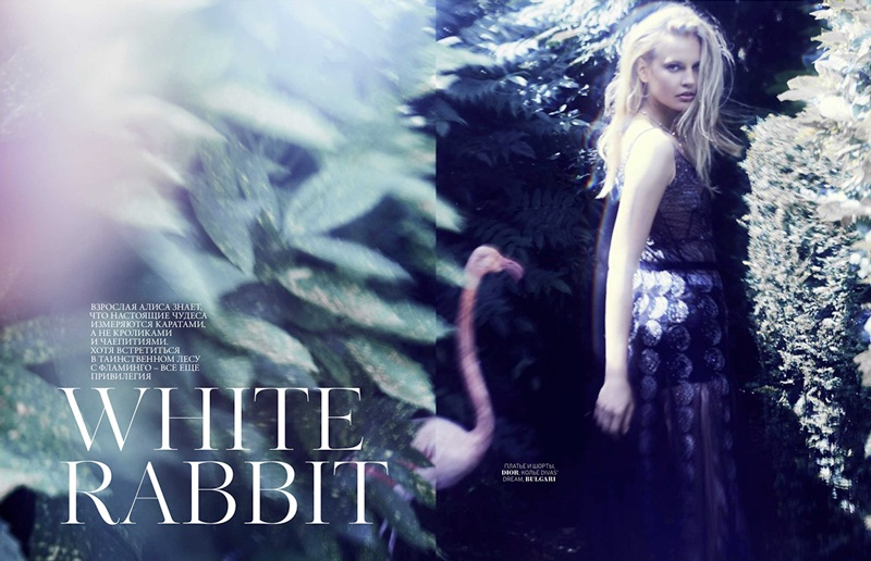 Elisabeth Erm Gets Lost in Wonderland for Marie Claire Russia