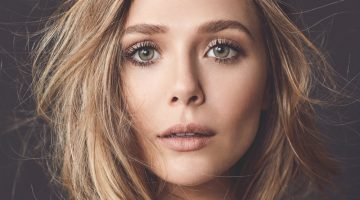 Getting her closeup, Elizabeth Olsen wears Chanel jacket and Irene Neuwirth necklace