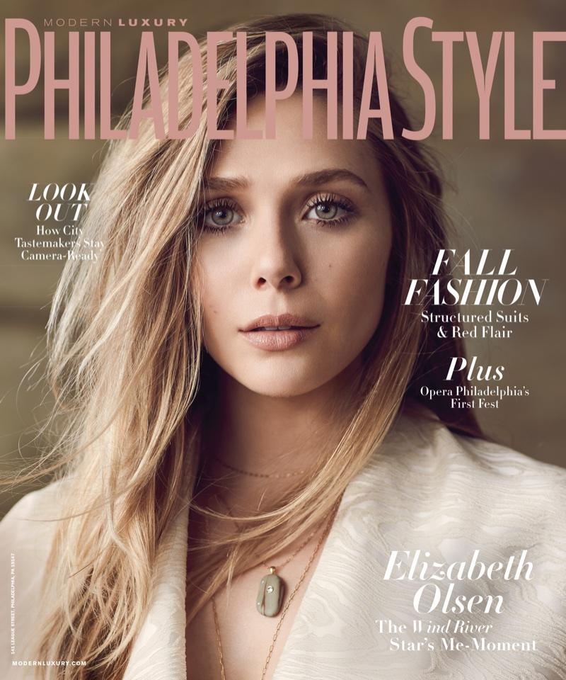 Modern Luxury Style Interior Design: Elizabeth Olsen Modern Luxury Fall 2017 Cover Photoshoot