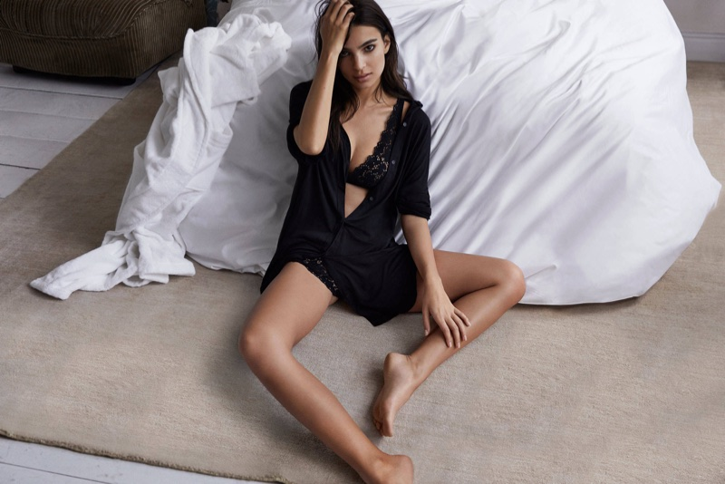 Emily Ratajkowski fronts DKNY Intimates' fall-winter 2017 campaign