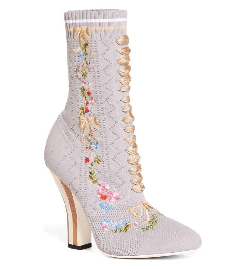 Fendi Floral Sock Bootie $1,050