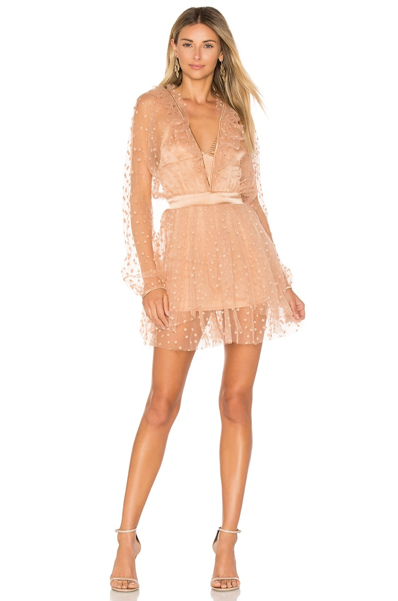 For Love & Lemons All That Glitters Mini Dress $303