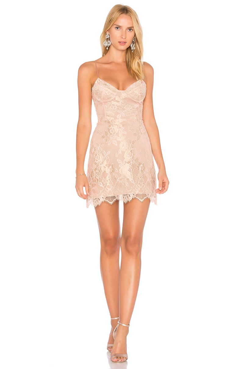 For Love & Lemons Bumble Bustier Dress $246