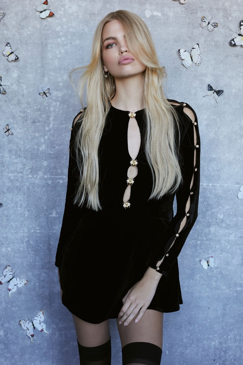 Daphne Groeneveld stars in For Love & Lemons' fall-winter 2017 lookbook